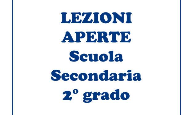 Lezioni aperte Scuola Secondaria 2 Grado